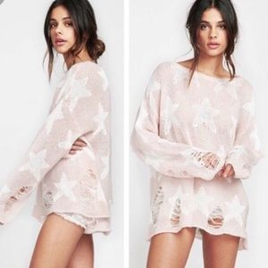 Wildfox seeing star Lennon sweater Sz S